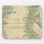 Carta del río Misisipi más bajo Alfombrillas De Ratones