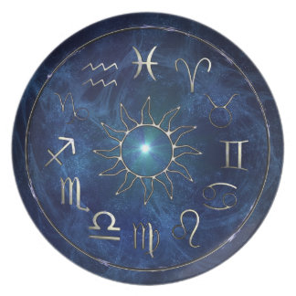 Carta del zodiaco plato de cena