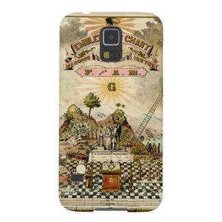 Carta emblemática masónica del Freemason Carcasas Para Galaxy S5