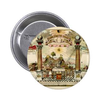 Carta emblemática masónica del Freemason Pins