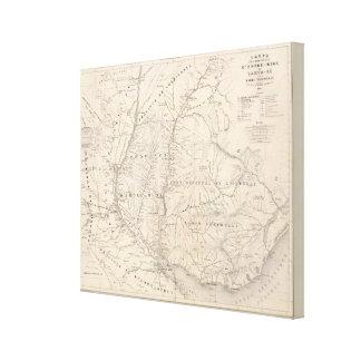Carta, Entre Rios, Santa Fe, banda de sonido Lienzo Envuelto Para Galerías