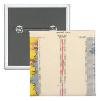 Carta fiscal, litografía estadística de los E.E.U. Pins