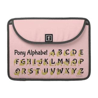 Carta flexible del alfabeto del potro el   funda para macbook pro