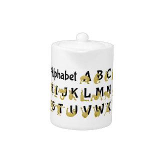 Carta flexible del alfabeto del potro el |