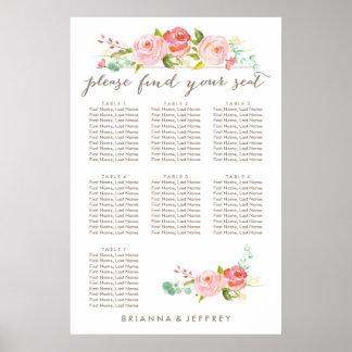 Carta floral el | del asiento de la rosaleda 7 póster