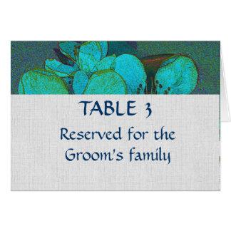 Carta floral rústica del asiento del lugar del tarjeta pequeña