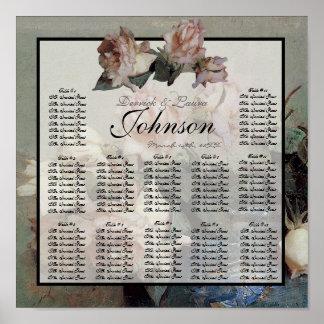 Carta impresionista del asiento de la tabla de la  póster