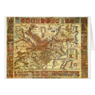 Carta Itineraria Europae by Waldseemüller 1520 Greeting Card