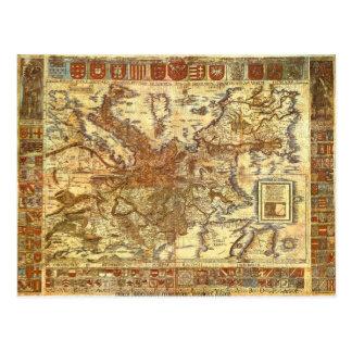 Carta Itineraria Europae by Waldseemüller 1520 Post Cards