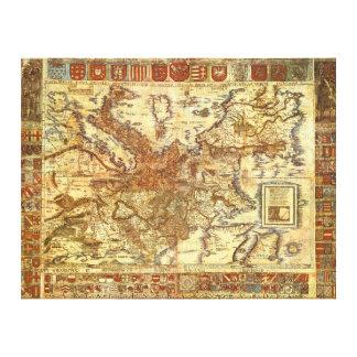 Carta Itineraria Europae por Waldseemüller 1520 Lona Estirada Galerias