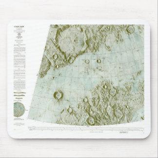 carta lunar de la escala del 1:000 000 mousepads