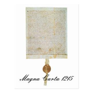 Carta Magna Libertatum - 1215 Tarjeta Postal