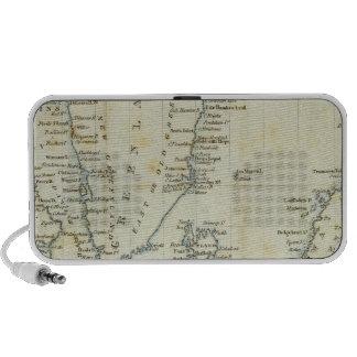 Carta mares polares laptop altavoces
