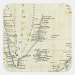 Carta, mares polares calcomania cuadrada personalizada