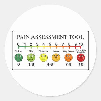 Carta médica de la herramienta de la evaluación pegatina redonda