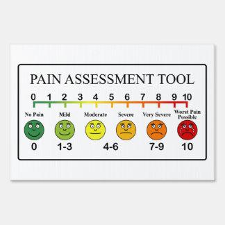 Carta médica de la herramienta de la evaluación señales