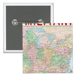 Carta militar de la unión pin cuadrada 5 cm