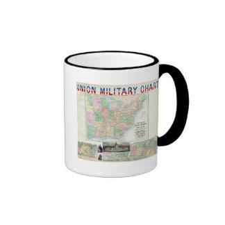 Carta militar de la unión taza de café