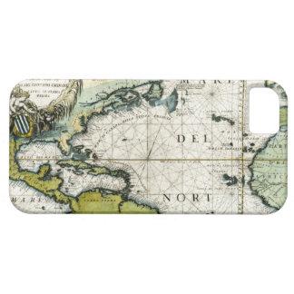 Carta náutica atlántica 1691 iPhone 5 carcasa