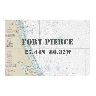 Carta náutica de la longitud de la latitud de Fort Tapete Individual