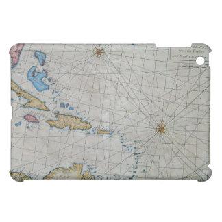 Carta náutica del vintage del Caribe