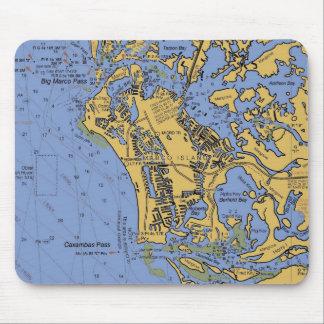 Carta náutica Mousepad de la isla de Marco, la Flo Tapete De Ratón