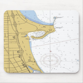 Carta náutica Mousepad del puerto de Chicago IL Mo