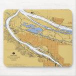 Carta náutica Mousepad del puerto de Portland Oreg Alfombrillas De Raton