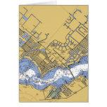 Carta navegacional coralina del cabo de la tarjeta