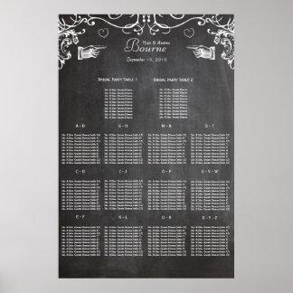 Carta negra moderna del asiento de la pizarra del posters