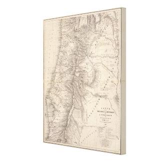 Carta, Province de Mendoza, el Araucan�a Impresión En Lienzo Estirada