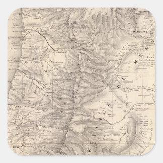 Carta, Province de Mendoza, el Araucan�a Pegatina Cuadrada