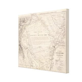 Carta, provincia de Santiago del Estero Impresion De Lienzo