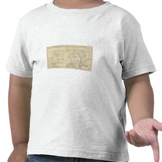Carta que contiene la parte del mar helado camisetas