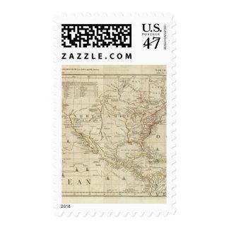 Carta que contiene las costas de California Sellos Postales