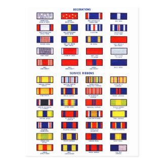 Carta retra de la cinta del servicio militar del postal