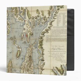 Carta topográfica de la bahía de Narraganset