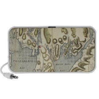 Carta topográfica de la bahía de Narraganset Notebook Altavoz