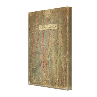 Carta topográfica de la bahía de Narraganset Impresiones En Lienzo Estiradas