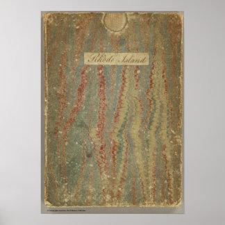 Carta topográfica de la bahía de Narraganset Impresiones