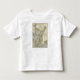 Carta topográfica de la bahía de Narraganset T-shirt
