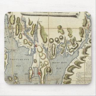 Carta topográfica de la bahía de Narraganset Alfombrilla De Ratones