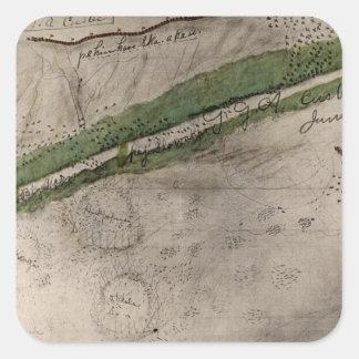 Carta topográfica del campo de batalla del Litt Colcomanias Cuadradases