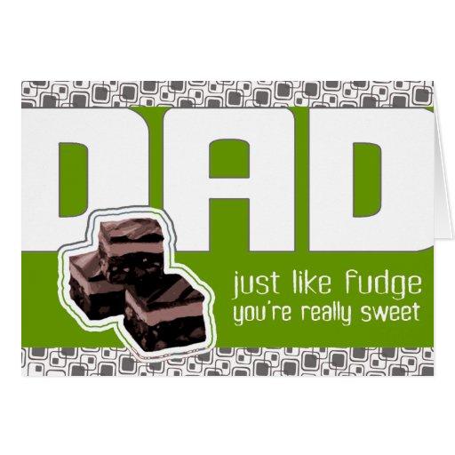 Carta verde del día de padre que elude o del tarjeta de felicitación