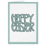 Carta verde feliz de Pascua Felicitacion