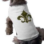 Cartabón de NOLA de la flor de lis Camiseta De Perro