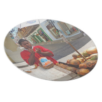 Cartagena - Coconut Vendor Dinner Plate