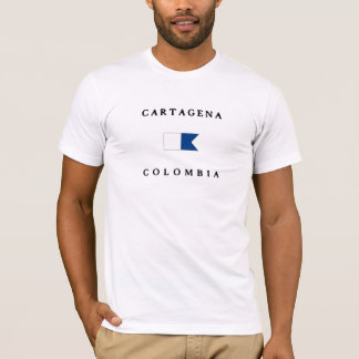 Cartagena Colombia Alpha Dive Flag T-Shirt