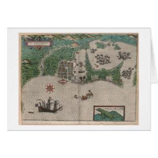 Cartagena, favorito de piratas tarjeta de felicitación