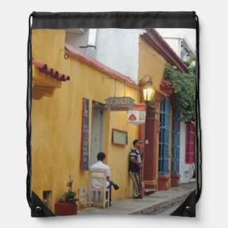 Cartagena Inside the Wall Drawstring Backpack